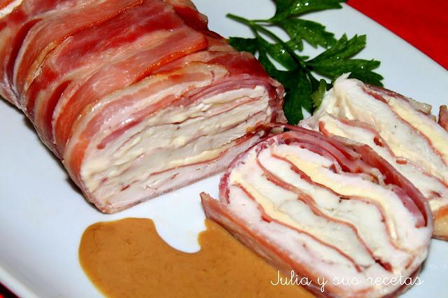 Pastel de pollo y bacon. Julia y sus recetas