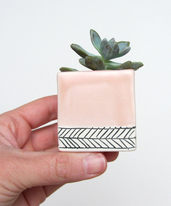 Handmade ceramic planter by Ebenotti on Etsy