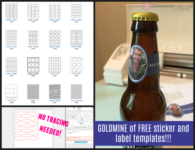 gold mine of free downloadable sticker and label templates for