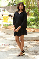 Actress Hebah Patel Stills in Black Mini Dress at Angel Movie Teaser Launch  0017.JPG