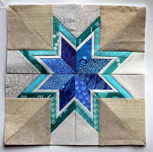 Lone Starburst Paper Piecing Free Pattern