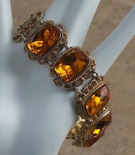 Amber glass bracelet by Sphinx
