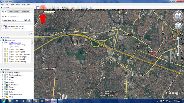 Insert Objek Point dari AutoCAD ke Google Earth