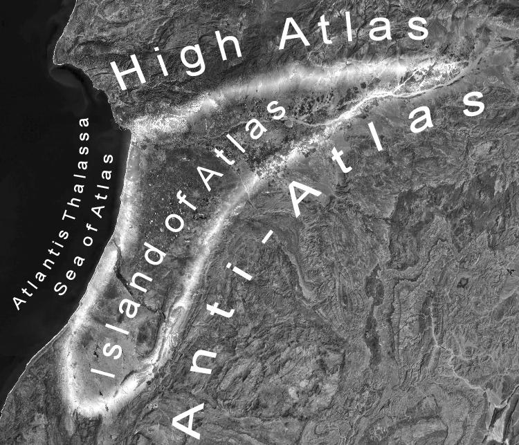 Ubicación de las montañas Atlas.