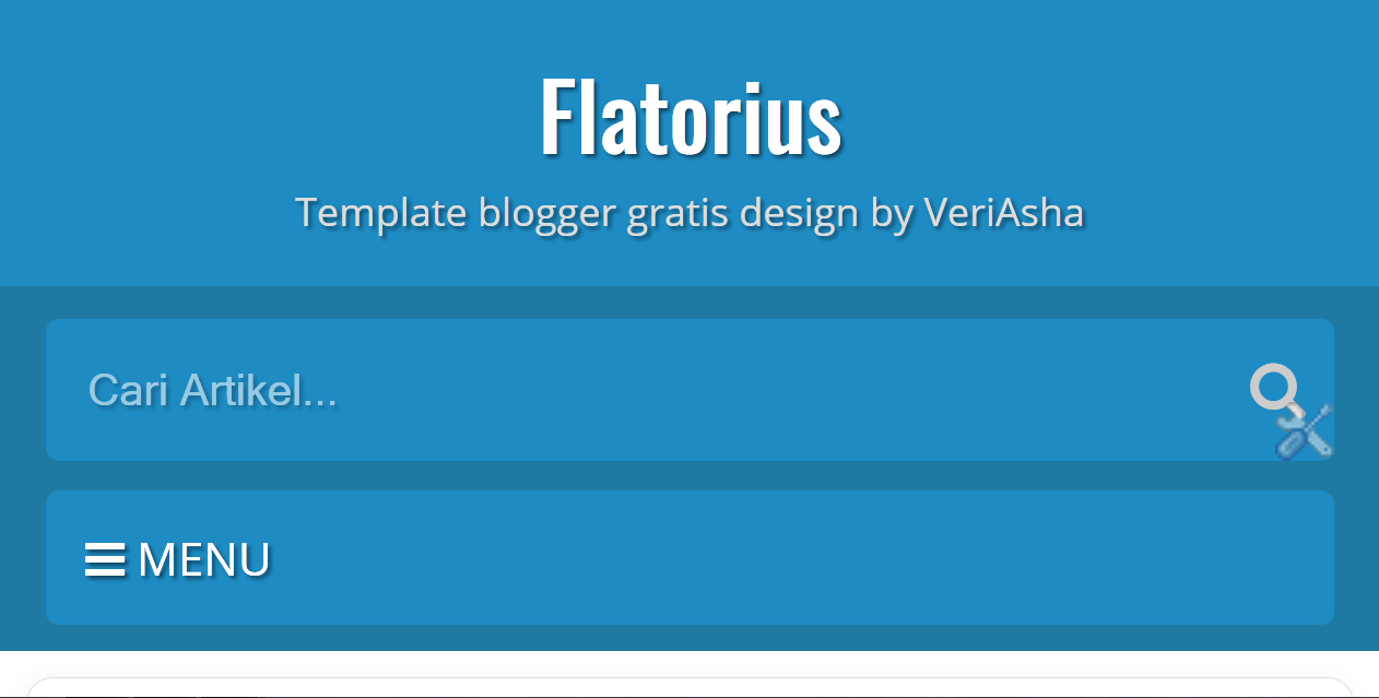 Template blogger flatorius simple responsive