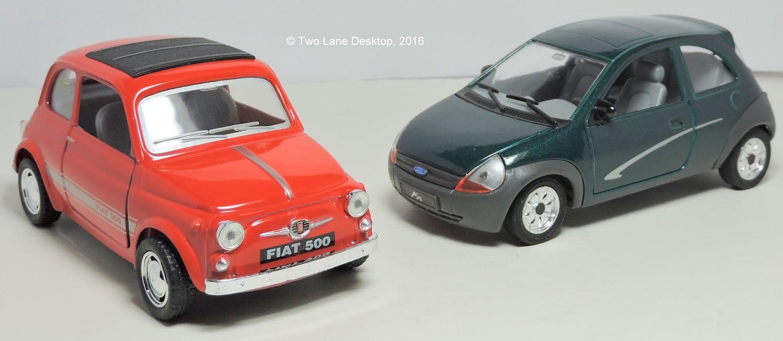 Kinsmart Fiat  And Ford Ka