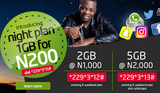 Etisalat Evening & Weekend Plan - 2GB For 1000, 5GB For 2000