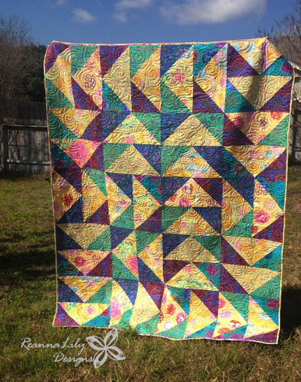 Mega Flying Geese Quilt Free Tutorial