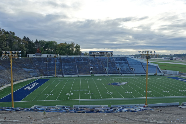 Abandoned Rubber Bowl Stadium in Akron Ohio