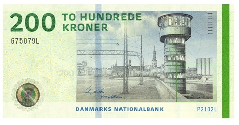 Sketch of the 200-krone banknote, 2009 series | Some Interesting