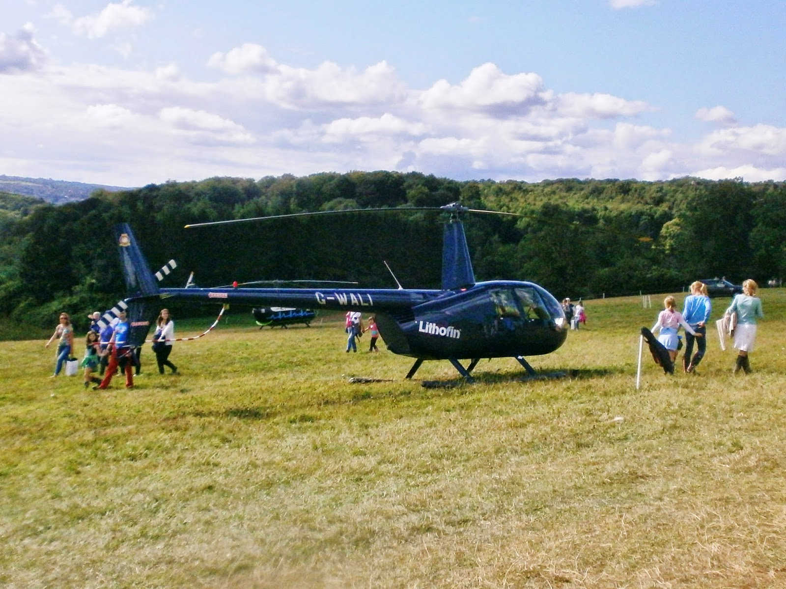 Helicopter at Gatcombe Festival of Eventing