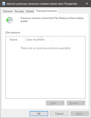 "Remove ""Restore Previous Versions"" Option from Context Menu in Windows"