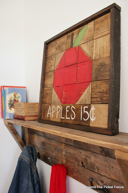 use reclaimed wood to make a rustic frame
