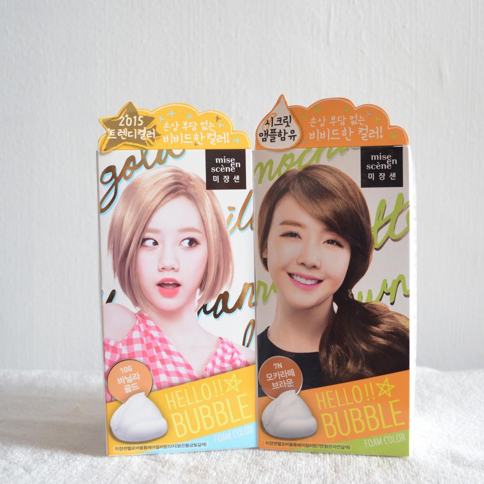 Rachel Lim Mise En Scene Hello Bubble Hair Dye Foam Review In 10g