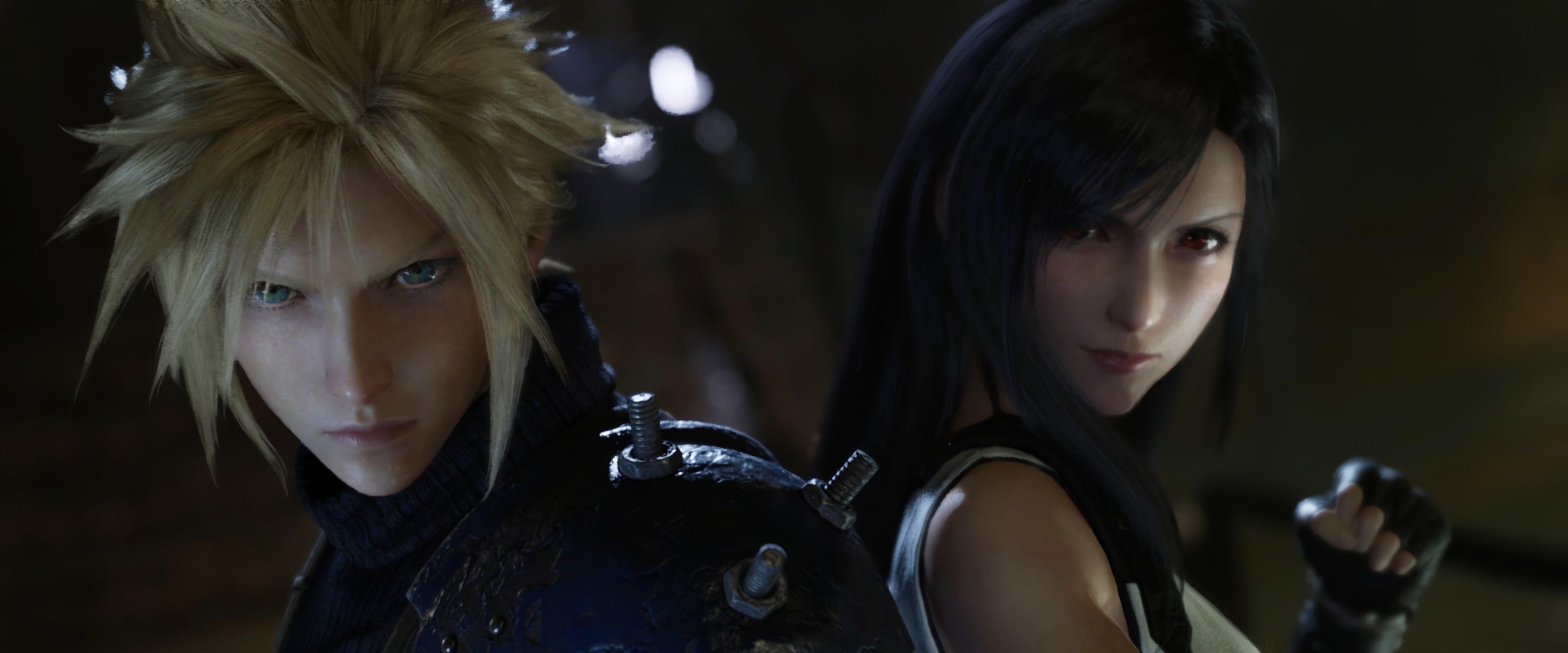 Final Fantasy 7 Remake Cloud Strife Tifa Lockhart 4k Wallpaper 15