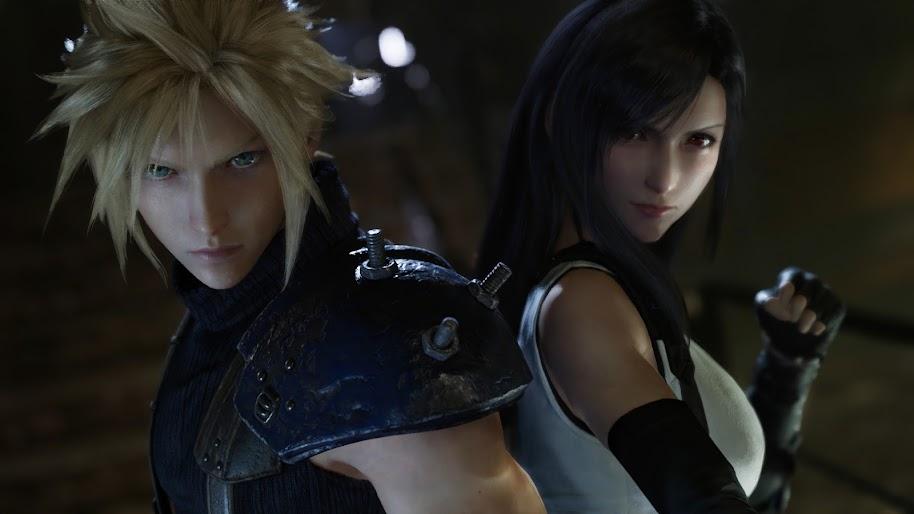 Final Fantasy 7 Remake Cloud Strife Tifa Lockhart 4k