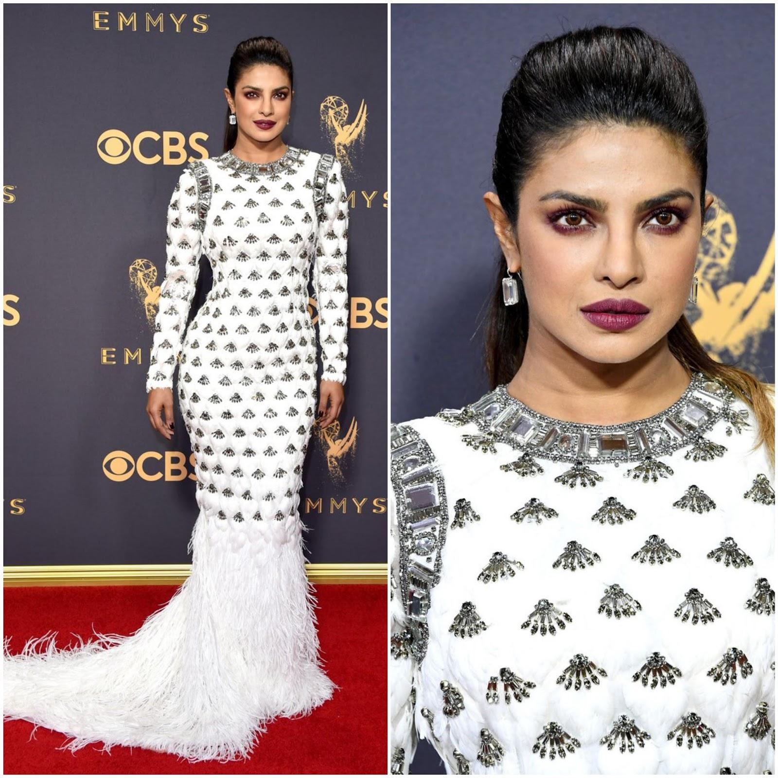 Primetime Emmy Awards 2017: Priyanka Chopra In Balmain