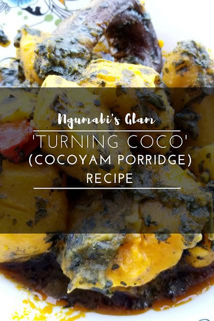 'Turning Coco' (Cocoyam Porridge) Recipe