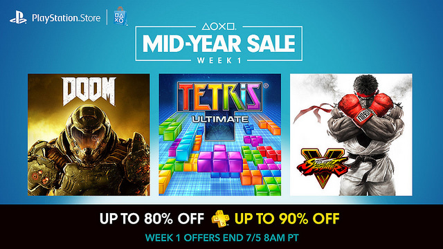 PlayStation Mid-Year Sale 2016 Currently Ongoing, Titles up to 90% Off