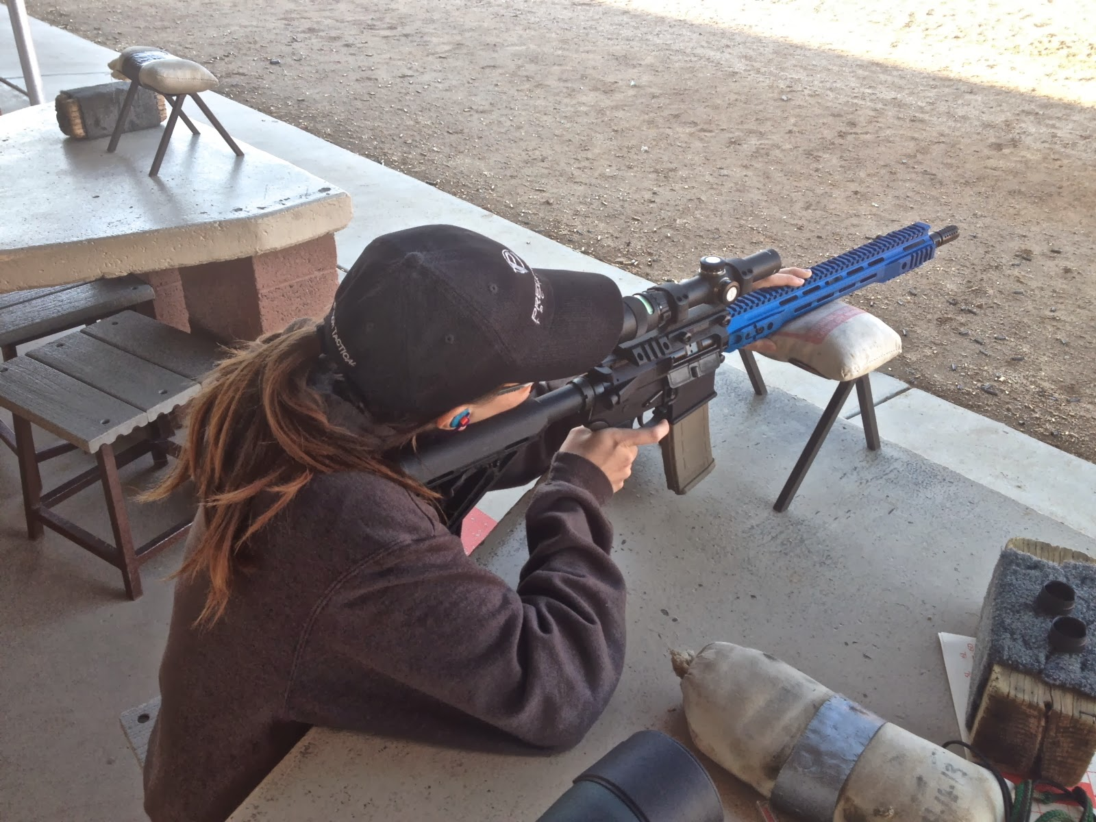 sighting in my predator tactical rifle aim with aimee