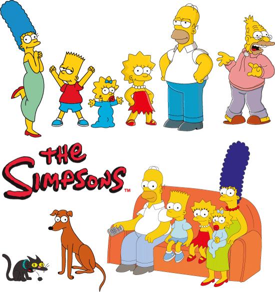 La Familia Simpson - vector