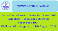 Vector Control Research Centre Recruitment 2016