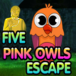 Games4King Five Pink Owls Escape