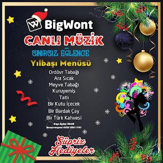 big wont kayseri yilbasi canli muzik yilbasi programi menusu