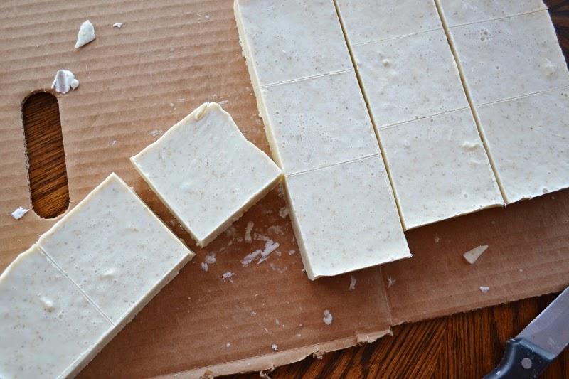 cut soap into bars