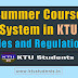 Summer Course Rules and Regulations