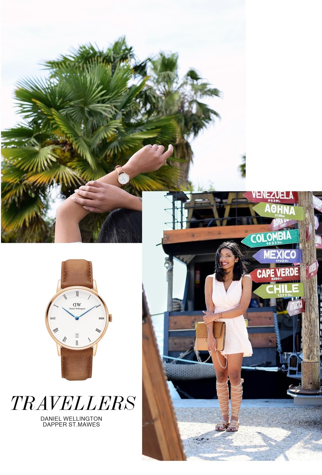 spring outfits with daniel wellington