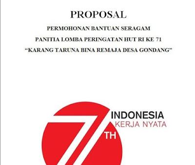 Contoh Proposal Pengajuan Seragam Untuk Sponsor