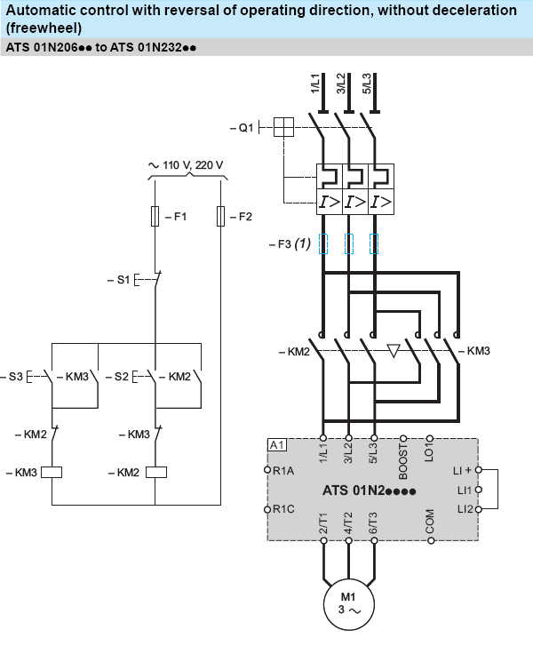 Single Phase To Three Converter Wiring Diagram Saturn Engine Parts Forward And Reverse Motor Starter   Elec Eng World