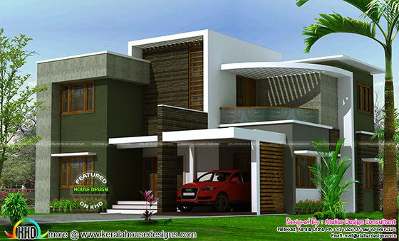 2400 sq-ft contemporary box type house