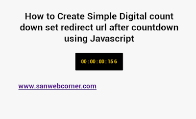 Simple Digital Count down using Javascript