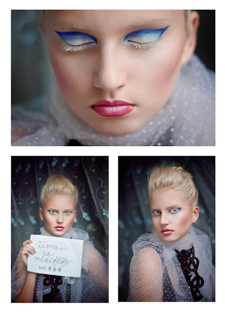 Pani Zima, Nath, snow make-up,snow makeup,