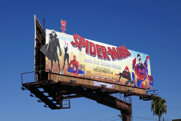 Spiderman Spider-verse Spider-ham extension billboard