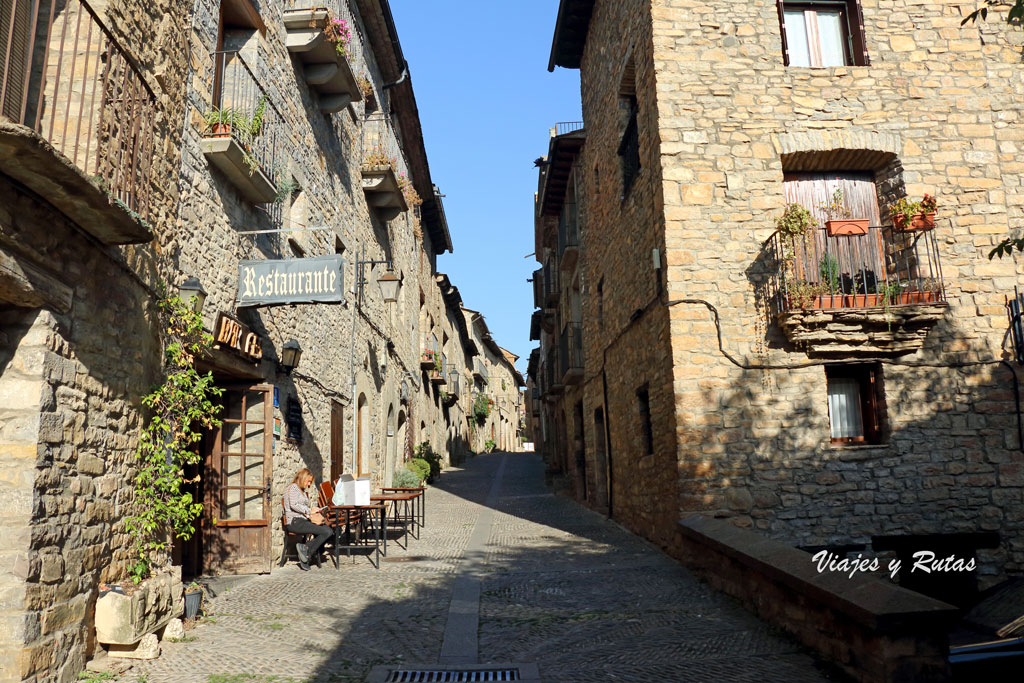 Calles de  Aínsa, Huesca