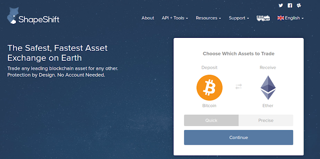 ShapeShift cryptocurrency Exchange
