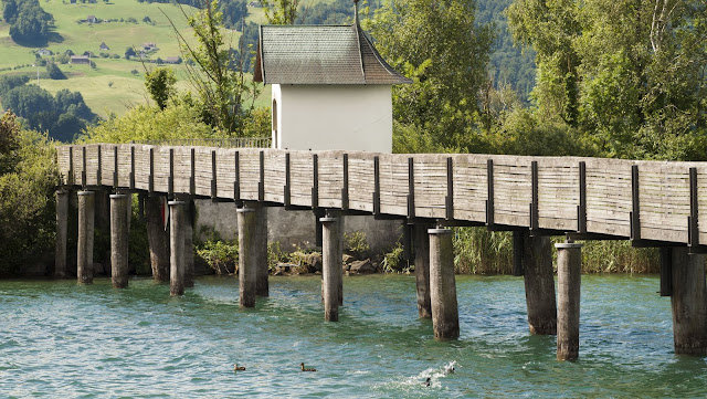 Half-day trip from Zurich in Rapperswil - wooden boardwalk over Lake Zurich
