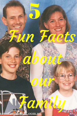 a few fun facts about my family for Five Things Friday
