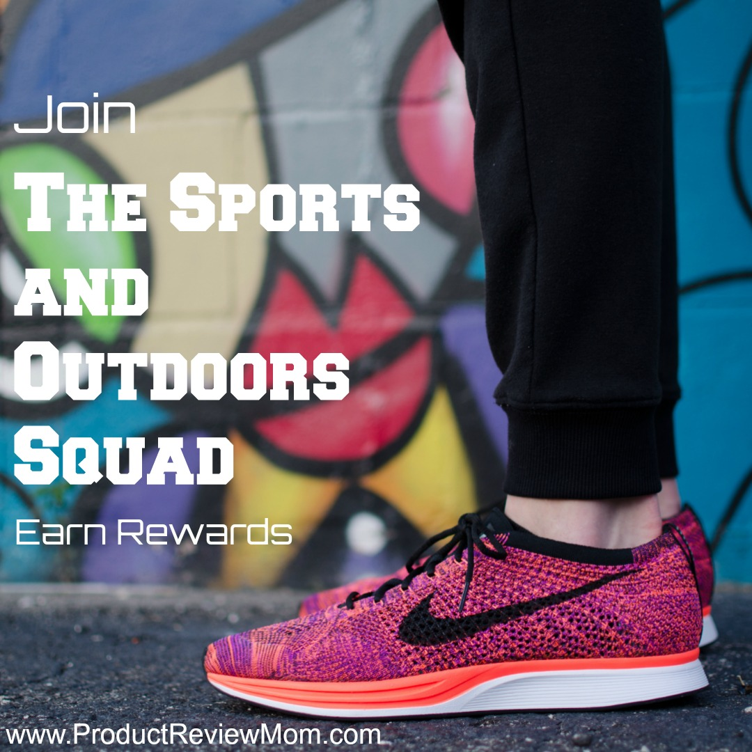 Join The Sports and Outdoors Squad and Earn Rewards!  via  www.productreviewmom.com