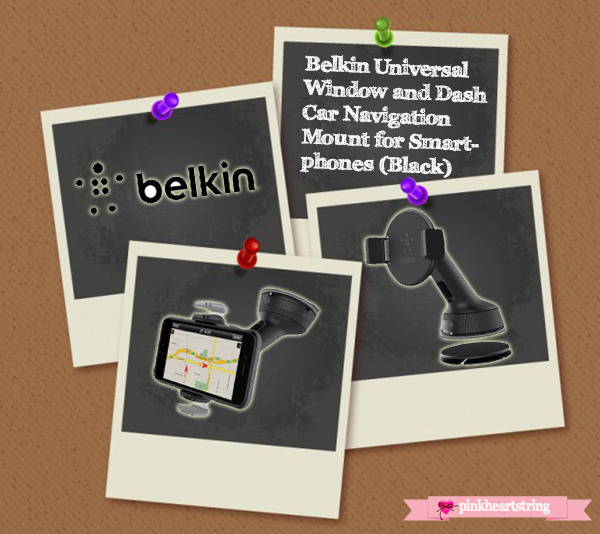 Belkin Universal Window and Dash Car Navigation Mount for Smartphones (Black)