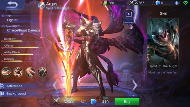 Review Hero Argus Mobile Legends Bang bang ( New Hero September 2017 )