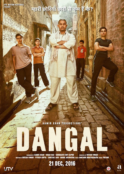 Poster Of Dangal 2016 Hindi 720p DVDScr Full Movie Download