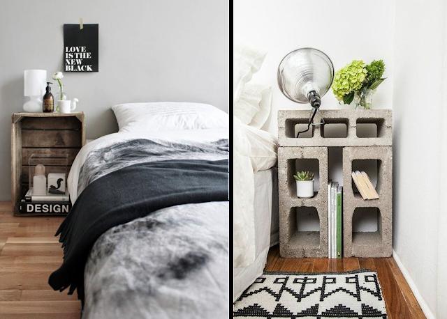 la fabrique d co id es de tables de nuit r cup rangement petits espaces am nagez votre. Black Bedroom Furniture Sets. Home Design Ideas