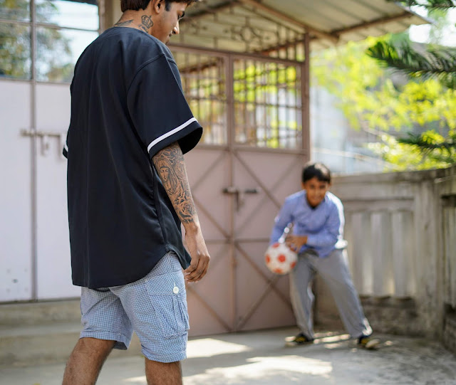 Sourajit Saha and Rick Playing Football 3