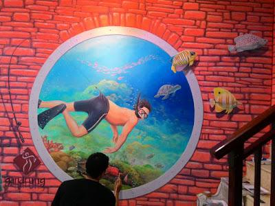 Mural Jogja, Mural jakarta, Mural, Jasa Mural, Mural Lombok, Lukis dinding, Wall Painting, Mural 3D Trick Art