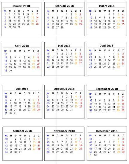 c&r-designs: #2018 kalenderblokje