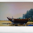 ....An Art Attempt - ..Learning by doing!: Boatscapes in Goa (watercolor)